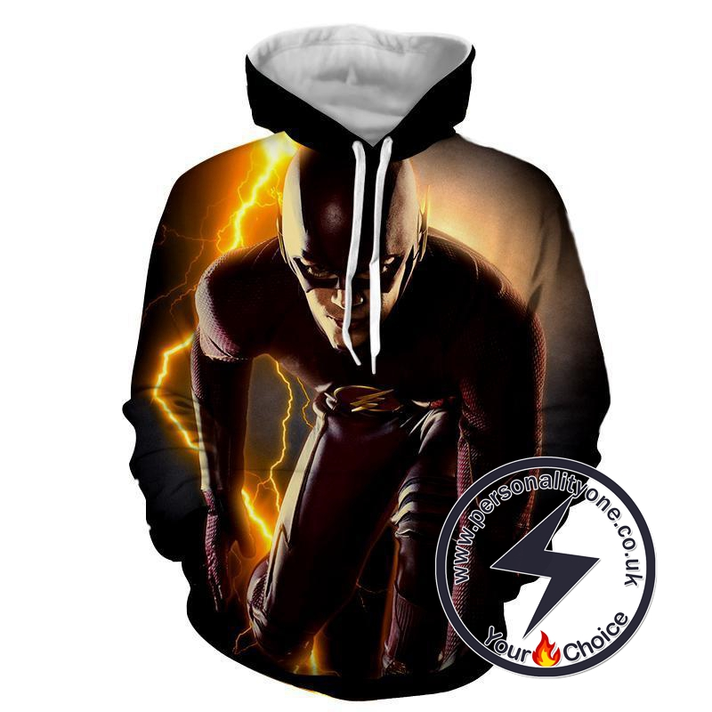 Angry Flash 3D Printed - The Flash Hoodies - Star Lab