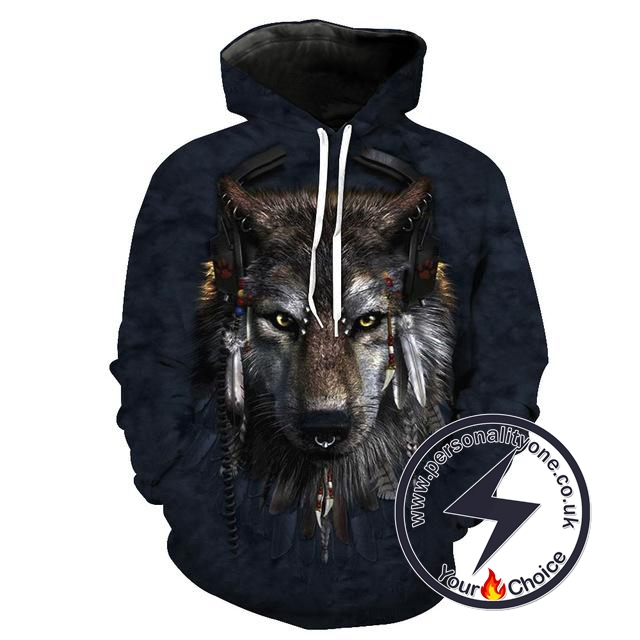 Angry Wolf - Wolf 3D - Wolf Hoodies