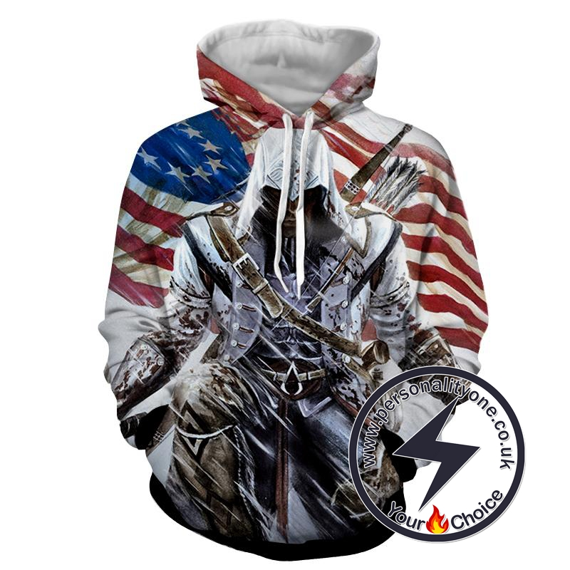 Assassins Creed 3D - Assassin's Creed Sweat Shirt - Assassin's Creed Hoodies