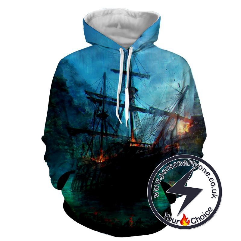 Assassin's Creed 3D - Pirates Ship - Assassin's Creed Hoodies