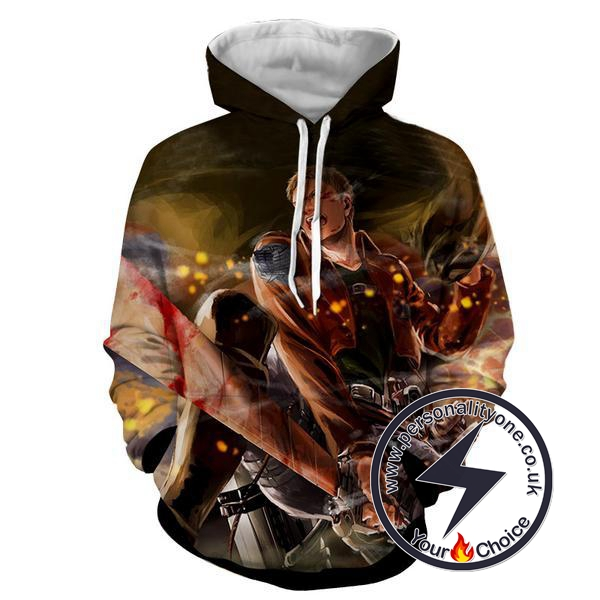 Attack On Titan - Armour Titan 3D - Attack On Titan Hoodies