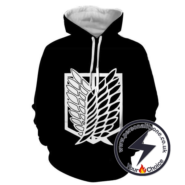 Attack On Titan - Attack On Titan Logo 3D - Attack On Titan Hoodies