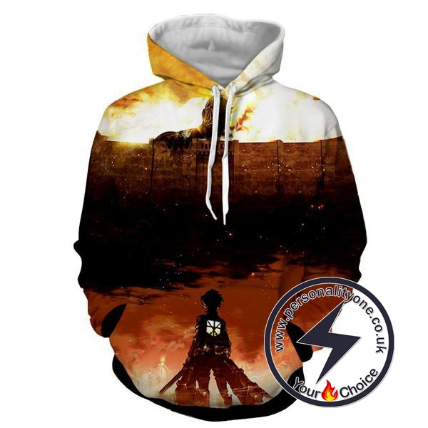 Attack On Titan - Levi Ackerman & Armour Titan 3D - Attack On Titan Hoodies