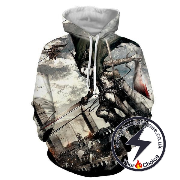 Attack On Titan - Levi Ackerman 3D - Attack On Titan Hoodies