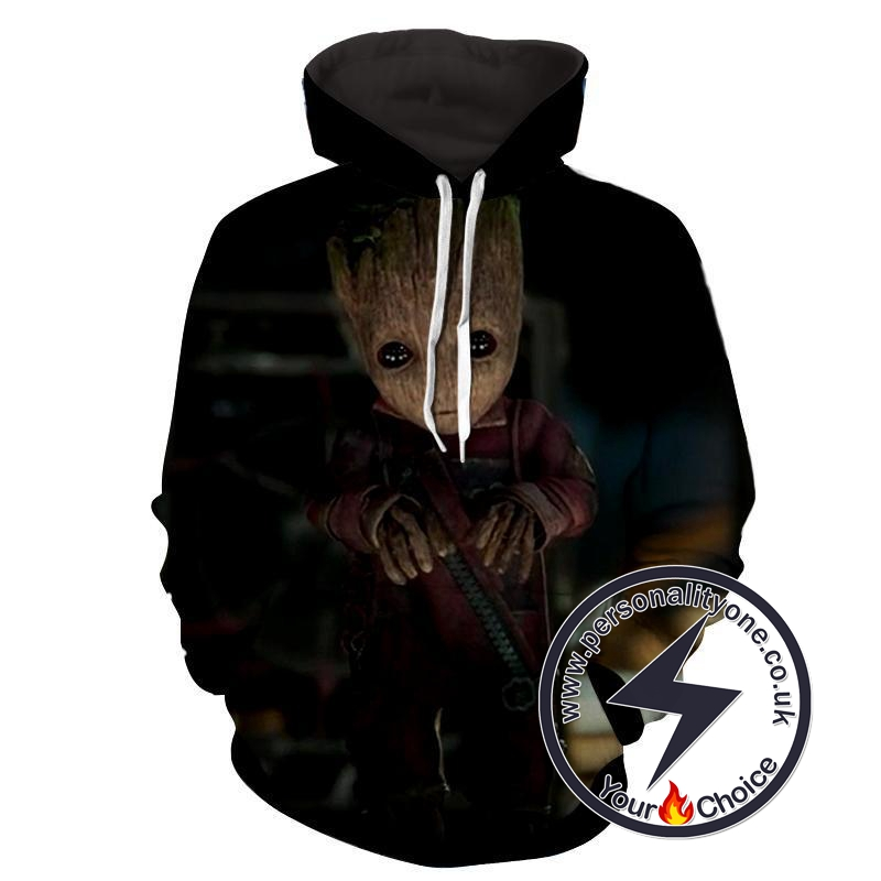Baby Groot - Guardian Of Galaxy 3D - Guardian Of Galaxy Hoodies