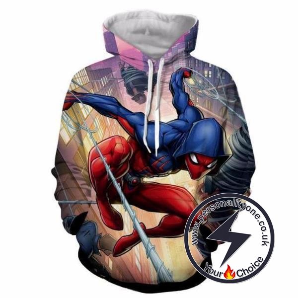 Ben Reilly : SCARLET SPIDERMAN 3D Hoodies - ZIP UP - SPIDERMAN 3D