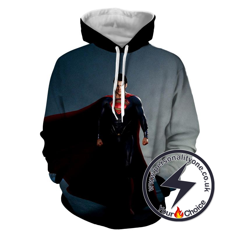 Black Dead Man Of Steel - Superman Sweat Shirt - Superman Hoodies