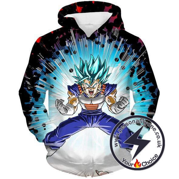 Dragon Ball Z - SSJ Blue Vegito 3D - Hoodies