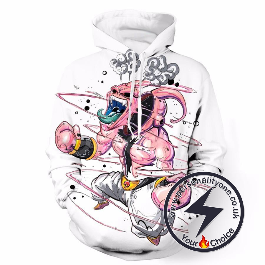 Dragon Ball Z - Angry Majin Buu 3D - Hoodies