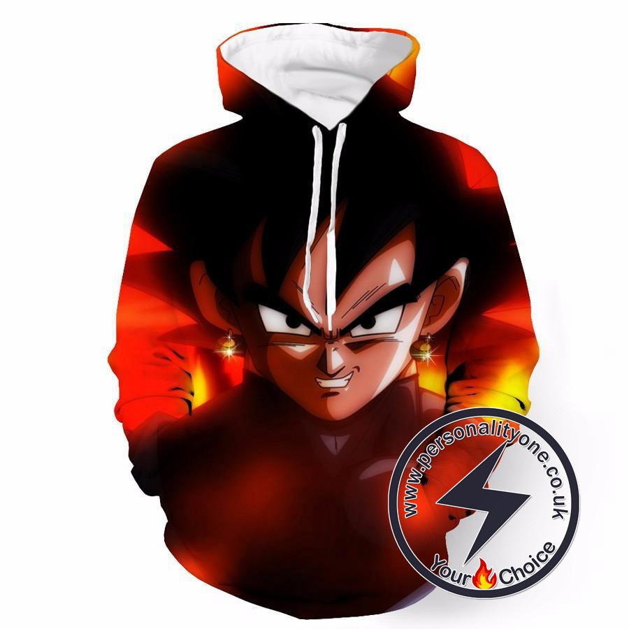 Dragon Ball Z - Black Goku Badass 3D - Hoodies