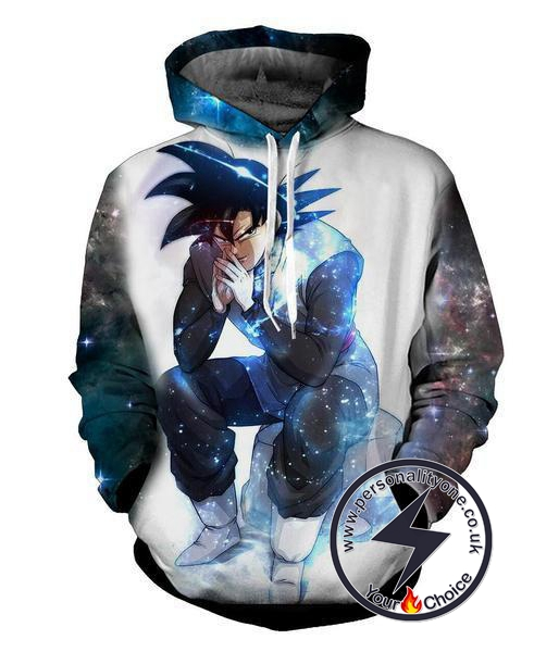 Dragon Ball Z - Black Goku Evil Thought Moment 3D - Hoodies