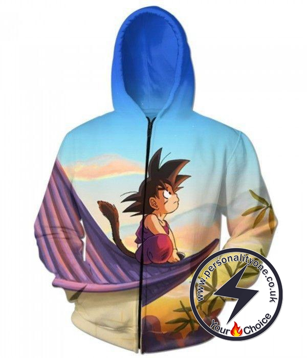 Dragon Ball Z - Cute Kid Goku ZipUp - Hoodies Jackets