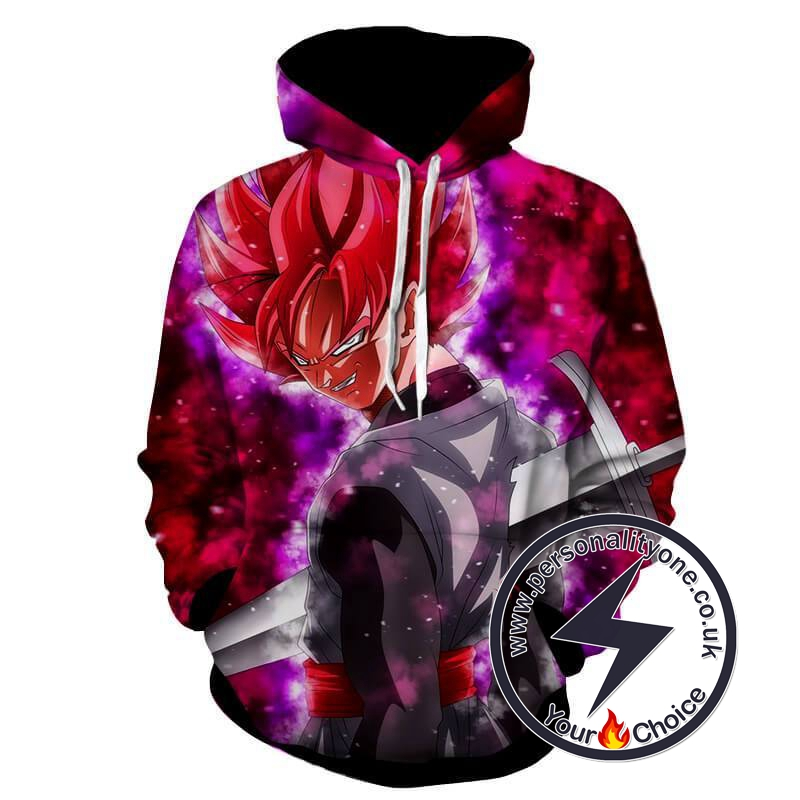 Dragon Ball Z - Evil Black Goku SSJ Rose 3D - Hoodies