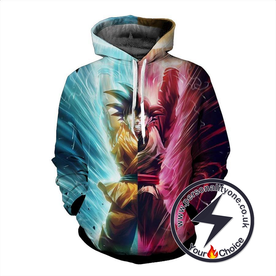 Dragon Ball Z - Goku & Black Goku 3D - Hoodies