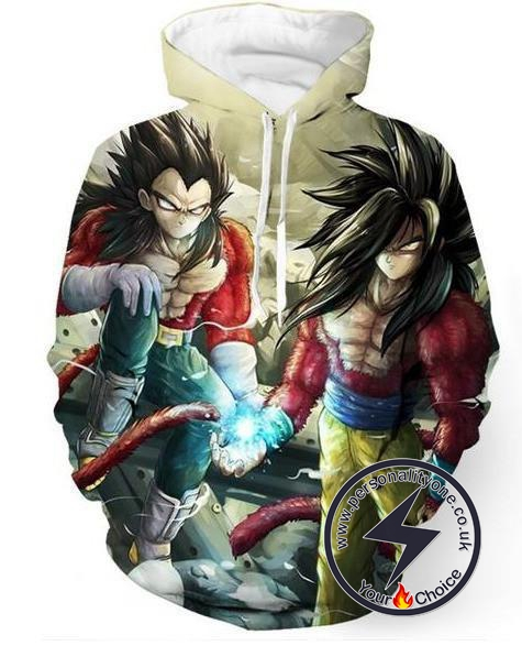 Dragon Ball Z - Goku & Vageta Ssj 4 3D - Hoodies