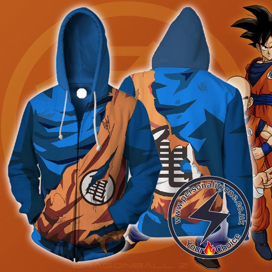 Dragon Ball Z - Goku Master Roshi Symbol ZipUp Armour - Hoodies Jackets