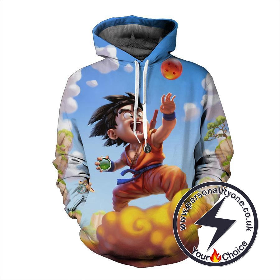 Dragon Ball Z - Goku On Nimbus 3D - Hoodies
