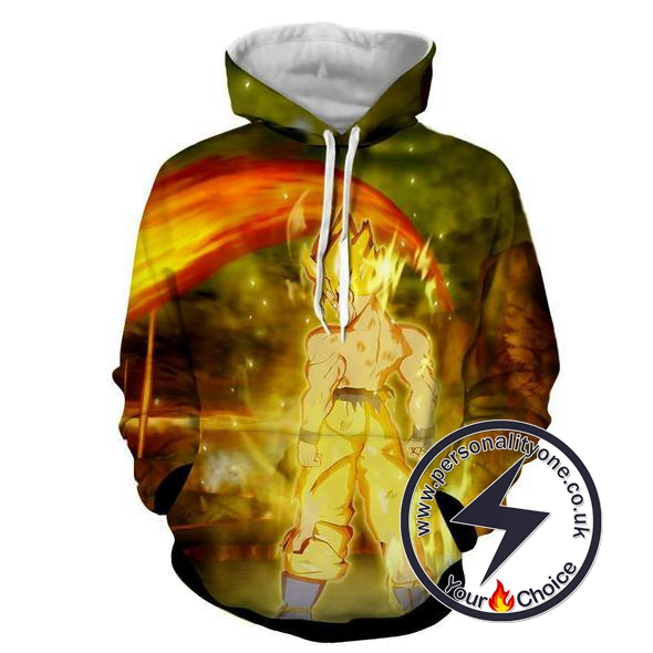 Dragon Ball Z - Goku SSJ 3D - Hoodies