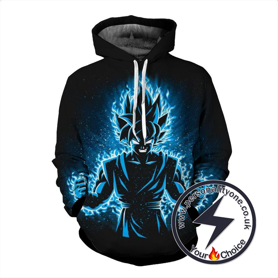 Dragon Ball Z - Goku SSJ Blue 3D - Hoodies