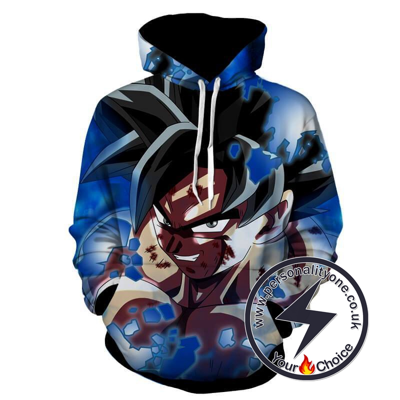 Dragon Ball Z - Goku Super Sayian Silver Eyes 3D - Hoodies