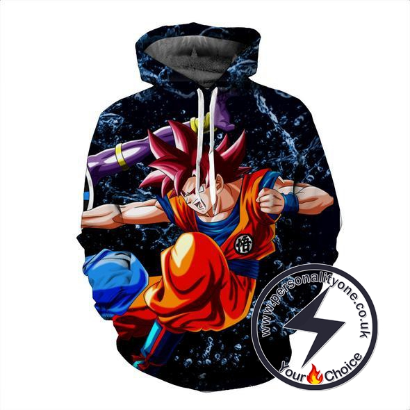 Dragon Ball Z - Goku Vs Beerus 3D - Hoodies