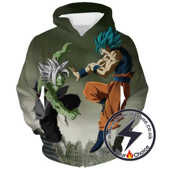 Dragon Ball Z - Goku Vs Zamasu Fusion 3D - Hoodies