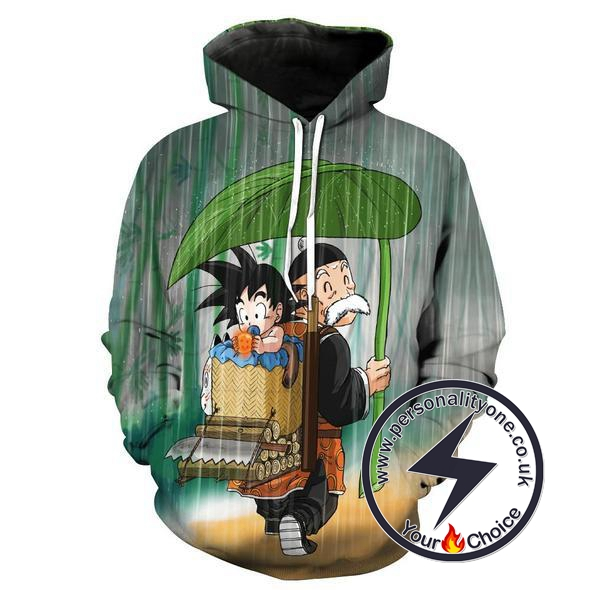 Dragon Ball Z - Grandpa Goku & Baby Goku 3D - Hoodies