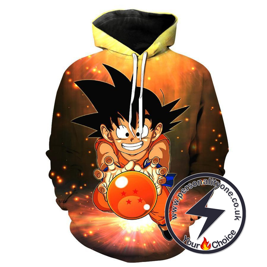 Dragon Ball Z - Kid Goku 3D - Hoodies