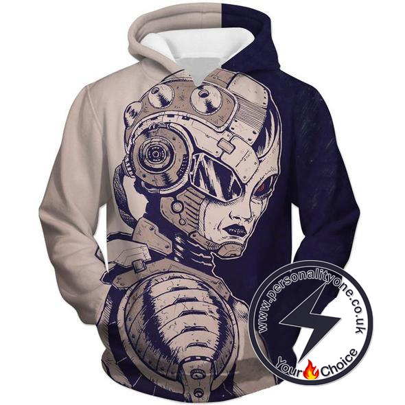 Dragon Ball Z - Mecha Fariza 3D - Hoodies