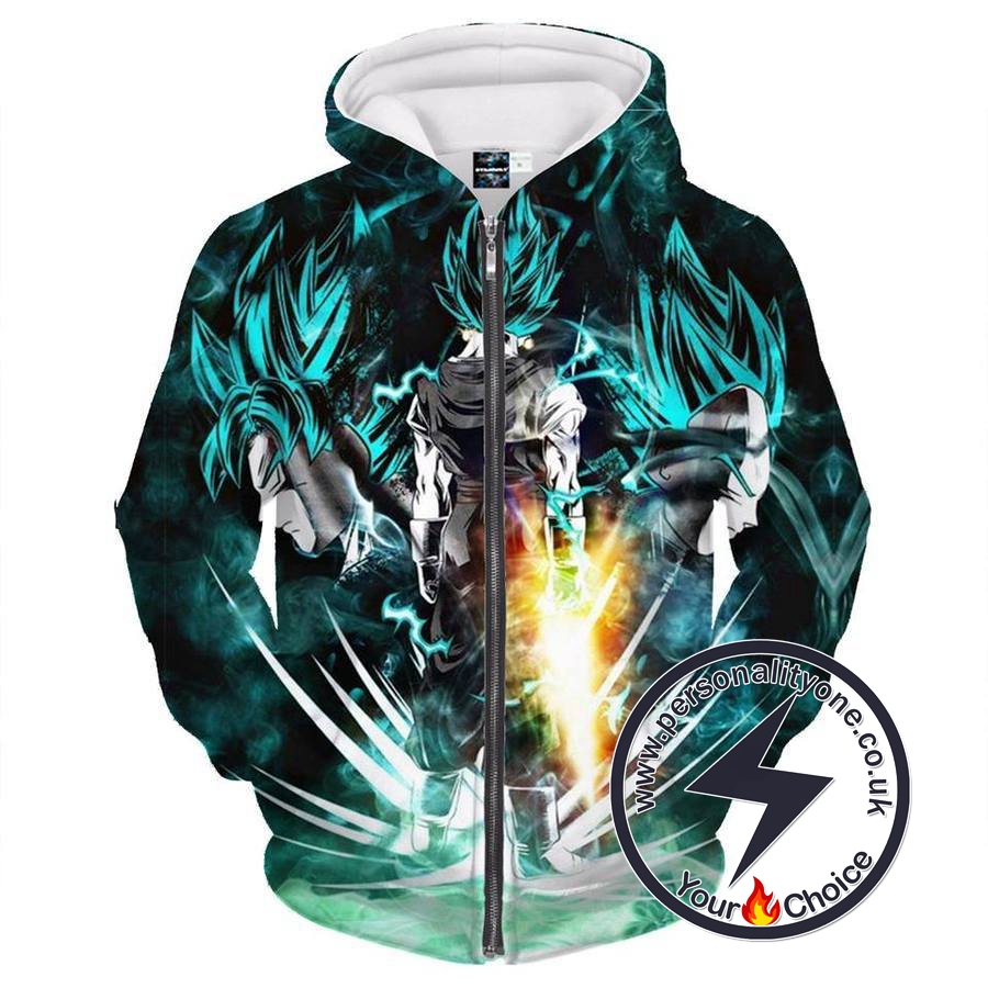 Dragon Ball Z - SSJ Goku & Vegeta ZipUp - Hoodies Jackets