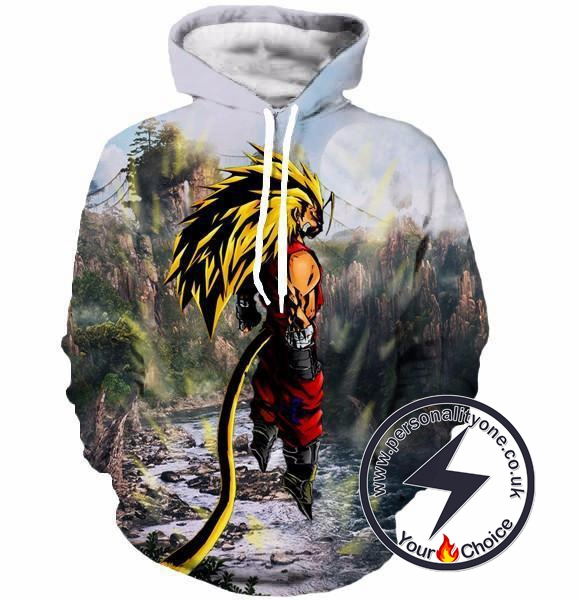 Dragon Ball Z - SSj3 3D - Hoodies