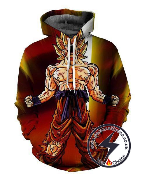 Dragon Ball Z -SSj Goku 3D - Hoodies