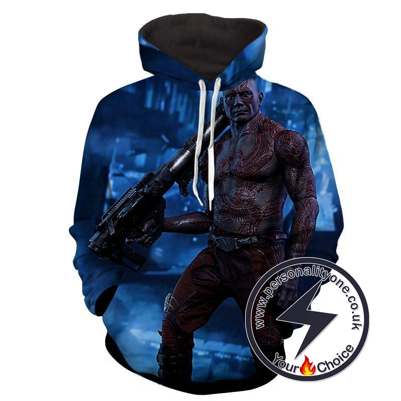 Drax the Destroyer 3D-Guardian Of Galaxy Hoodies