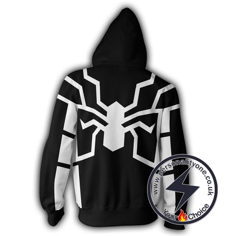 693221f914a6 FUTURE FOUNDATION SPIDERMAN BLACK 3D Hoodies Jackets - ZIP UP - SPIDERMAN 3D  larger image