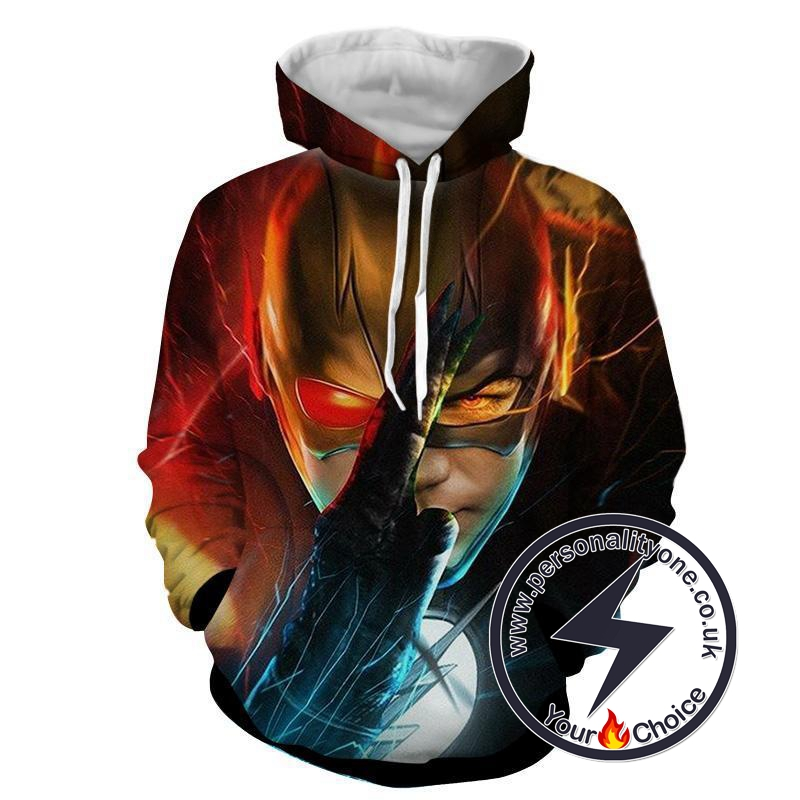 Flash In Action 3D Printed - The Flash Hoodies - Star Lab