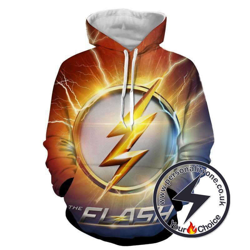 Flash Sign 3D Printed - The Flash Hoodies - Star Lab