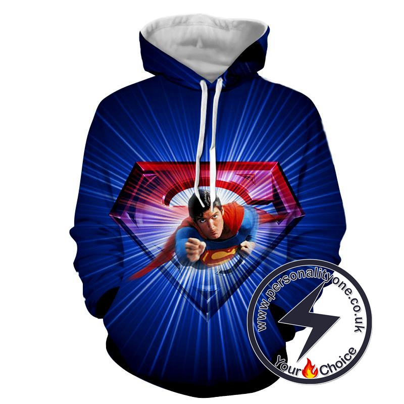 Flying Super Man 3D - Superman Sweat Shirt - Superman Hoodies