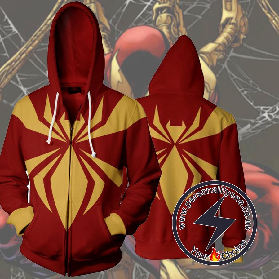 IRON SPIDERMAN 3D Hoodies - ZIP UP - SPIDERMAN 3D