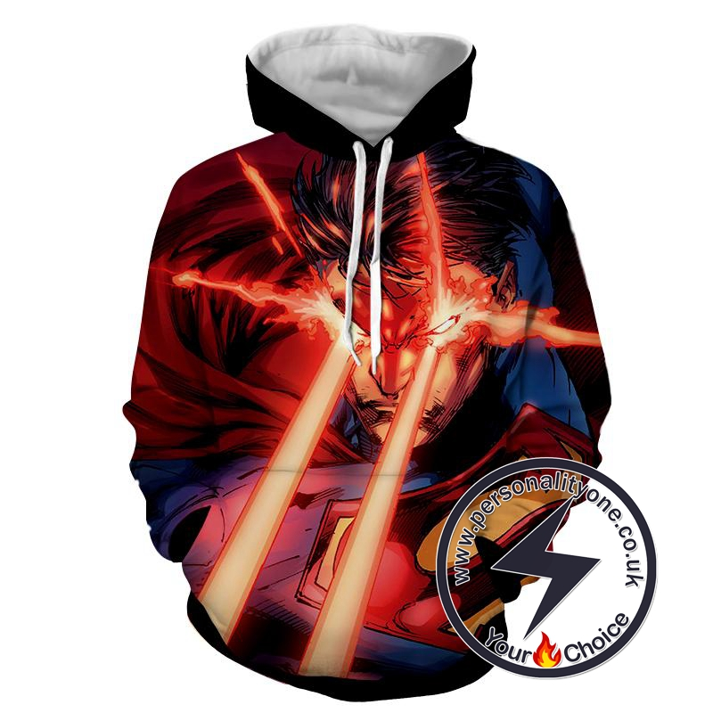 Laser Action Superman - Superman Sweat Shirt - Superman Hoodies