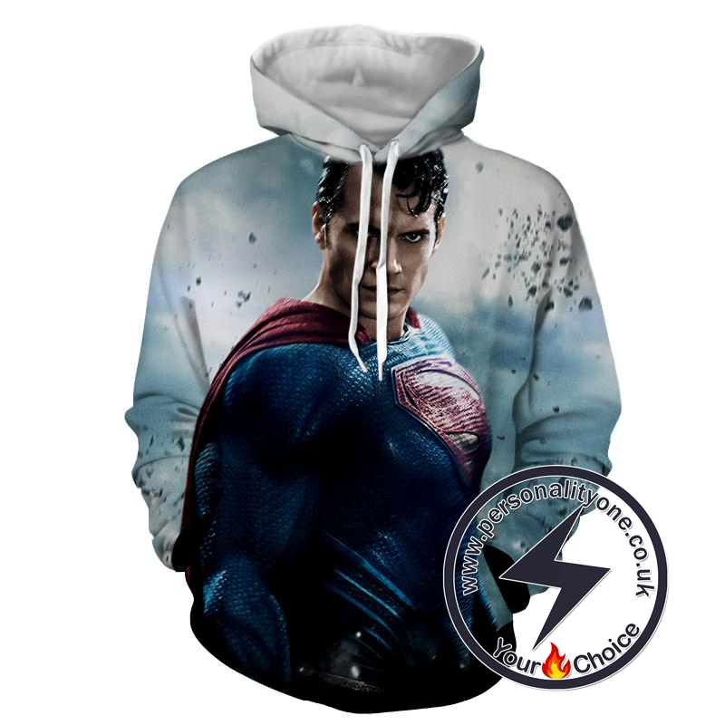 Man Of Steel - Superman Sweat Shirt - Superman Hoodies