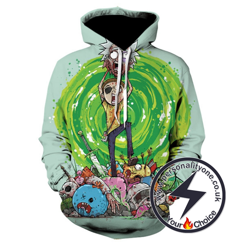 Morty With Wormhole Awesome Hoodie