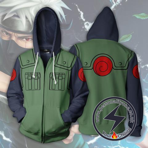 Naruto - Hatake Kakashi Zip Up - Hoodies Jackets