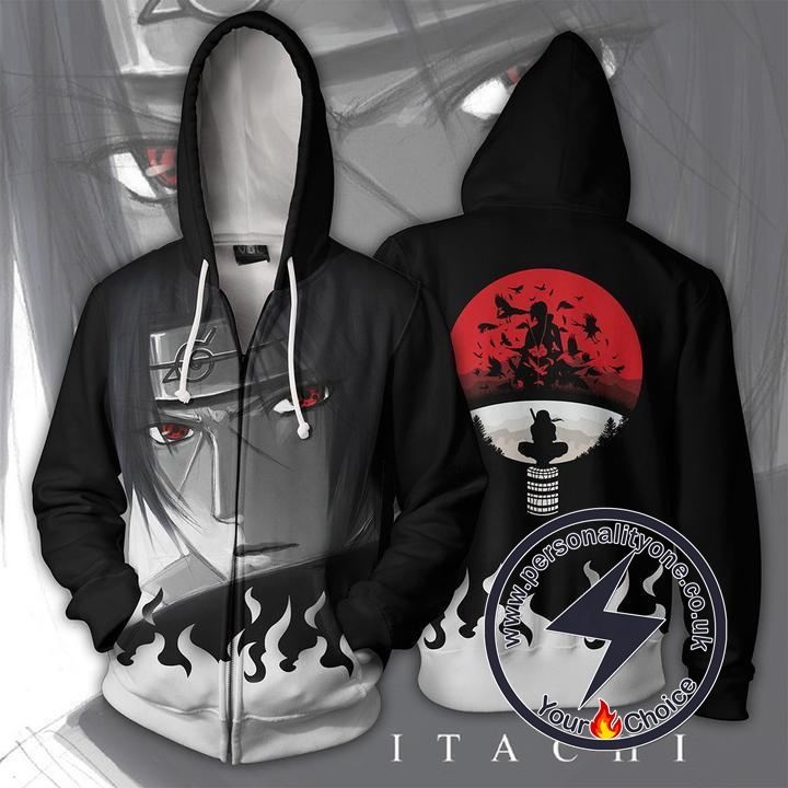 Naruto - Itachi Zip Up - Hoodies Jackets