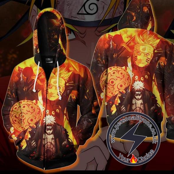 Naruto - Kurama Chakra Zip Up - Hoodies Jackets