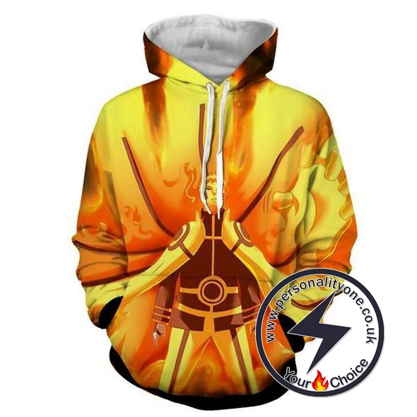 Naruto - Naruto Nine Tails Battle Mode 3D - Naruto Hoodies