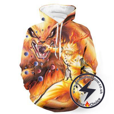 Naruto - Naruto Tail Fox 3D - Naruto Hoodies