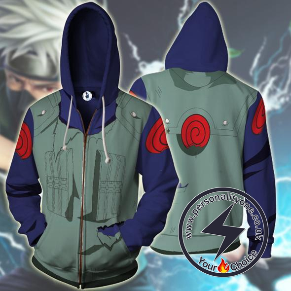 Naruto - Ninja Kakashi Zip Up - Hoodies Jackets