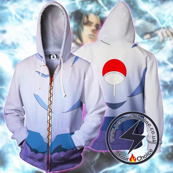 Naruto - Sasuke Uchiha Zip Up - Hoodies Jackets