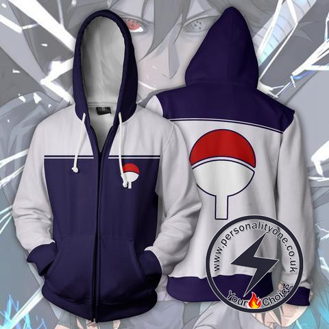 Naruto - Uchiha Clan Zip Up - Hoodies Jackets