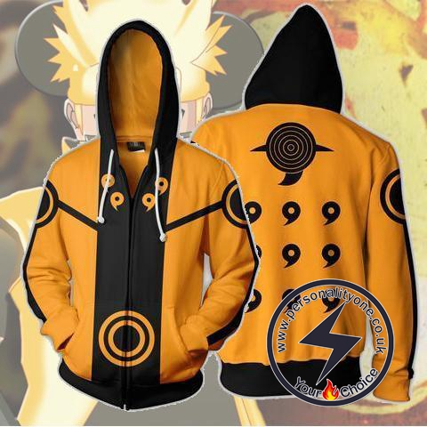 Naruto - Uzumaki Zip Up - Hoodies Jackets
